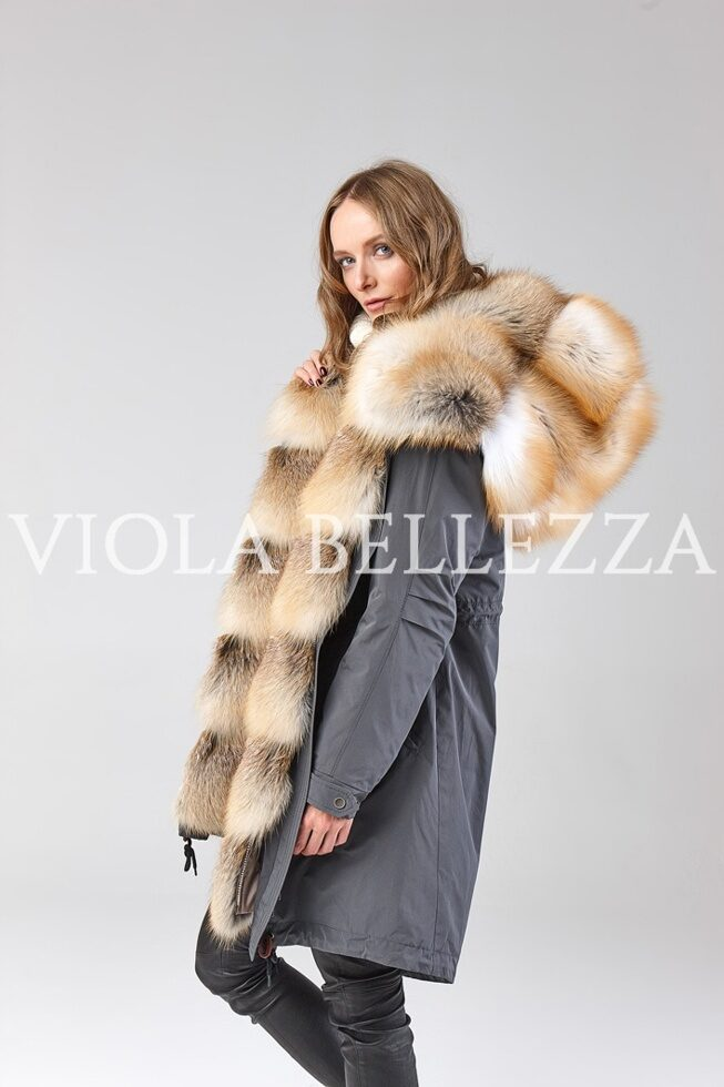 Парка VIOLA Graphit/Gold Island Fox Saga