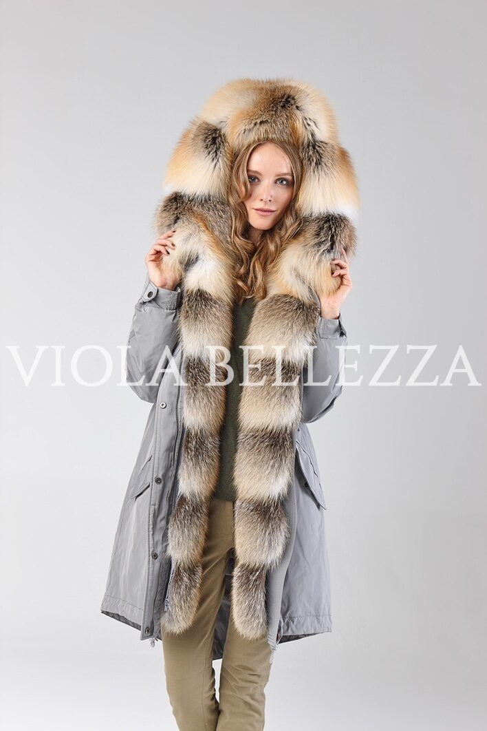 Парка VIOLA Grey/Gold Island Fox Saga