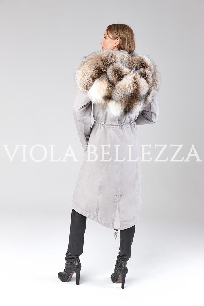 Parka s mehom BELLEZZA Grey/Smokey Fox Royal_3