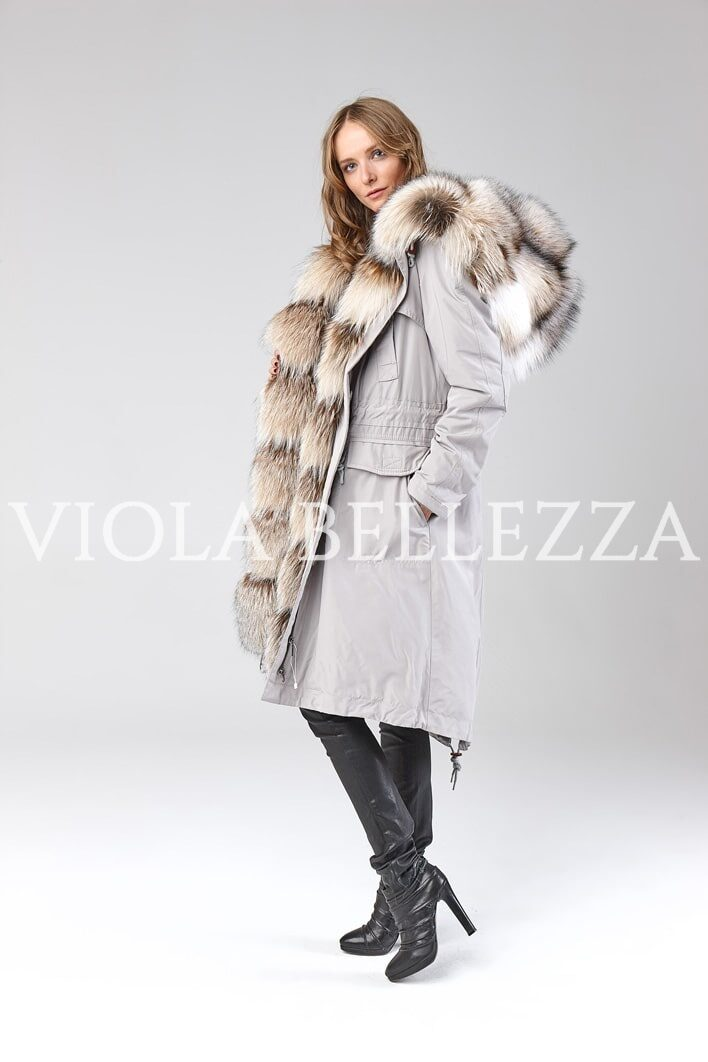 Парка BELLEZZA Grey/Smokey Fox Royal