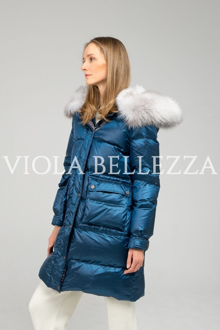Пуховик AGATA Denim/Blue Frost Arctic